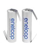 Genopladelige batterier med loddeflige
