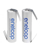 Panasonic eneloop batterier med loddeflige
