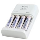Genopladelige batterier med oplader