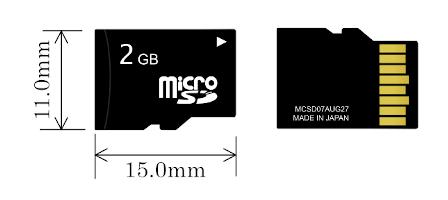 Micro-SD størrelse
