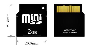 Mini-SD størrelse